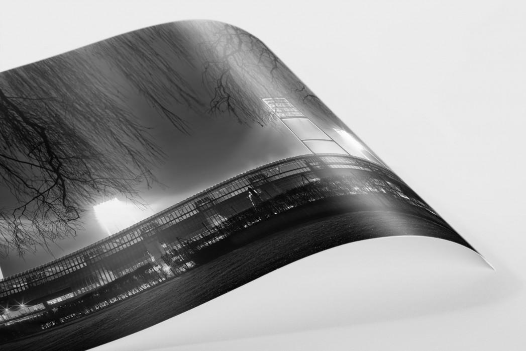 Weserstadion bei Flutlicht (Schwarzweiß-Querformat-3) als FineArt-Print