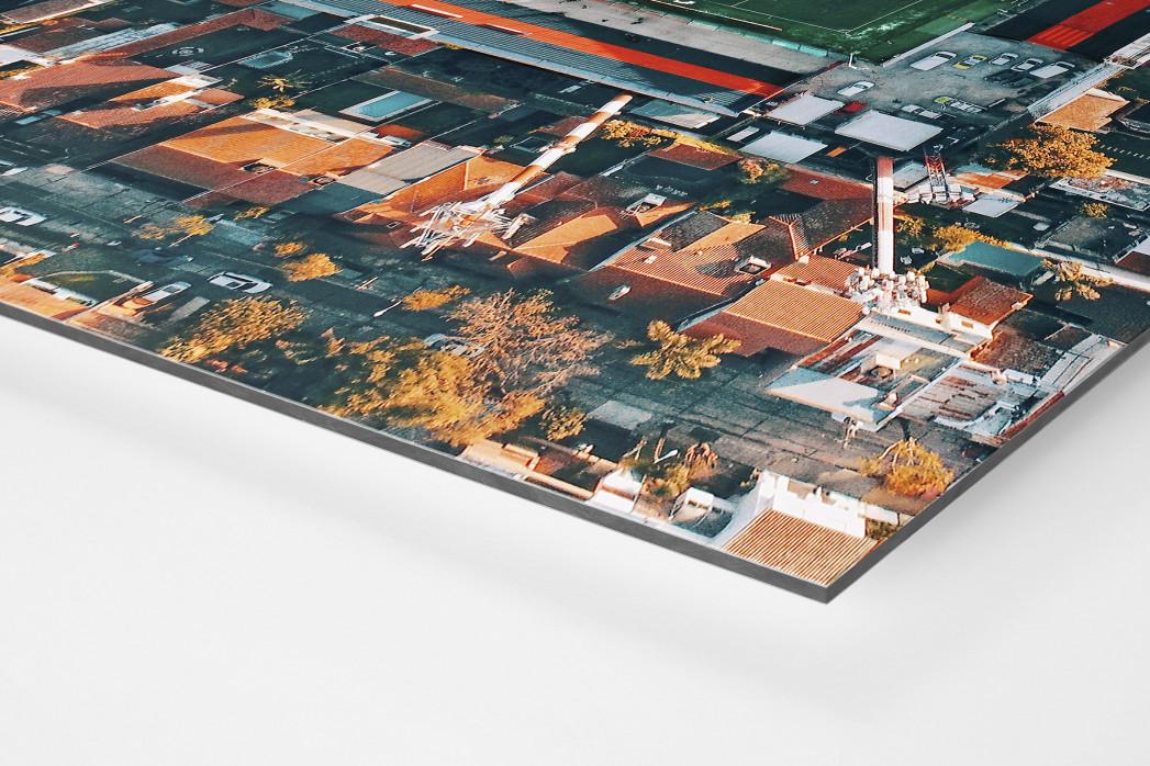 Vogelperspektive Estadio Jose Dellagiovanna als auf Alu-Dibond kaschierter Fotoabzug (Detail)