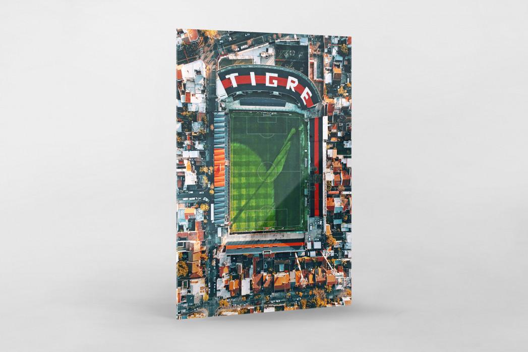 Vogelperspektive Estadio Jose Dellagiovanna als Direktdruck auf Alu-Dibond hinter Acrylglas