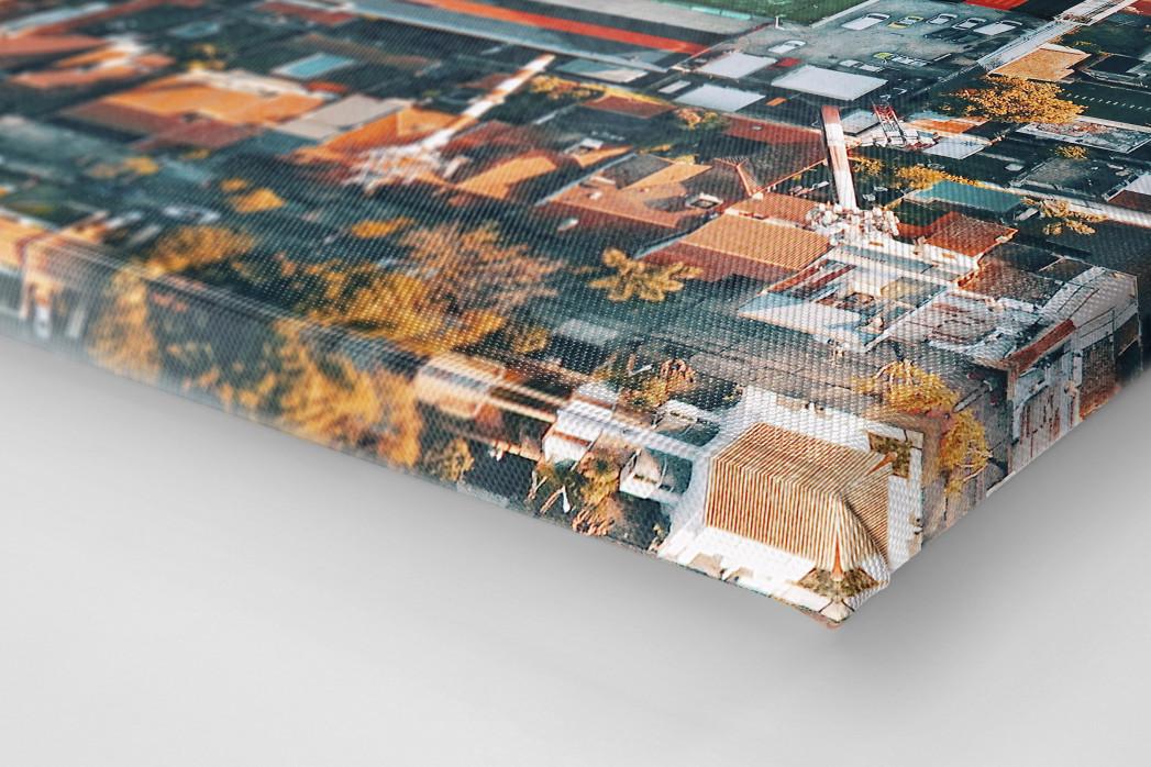 Vogelperspektive Estadio Jose Dellagiovanna als Leinwand auf Keilrahmen gezogen (Detail)