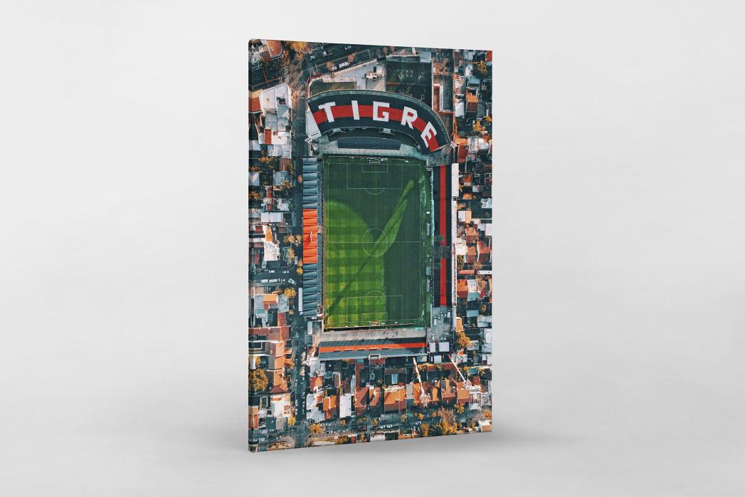 Vogelperspektive Estadio Jose Dellagiovanna als Leinwand auf Keilrahmen gezogen