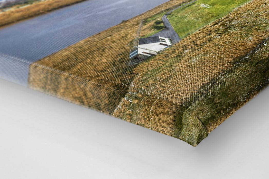 Fußballplatz im Glenveagh Nationalpark als Leinwand auf Keilrahmen gezogen (Detail)