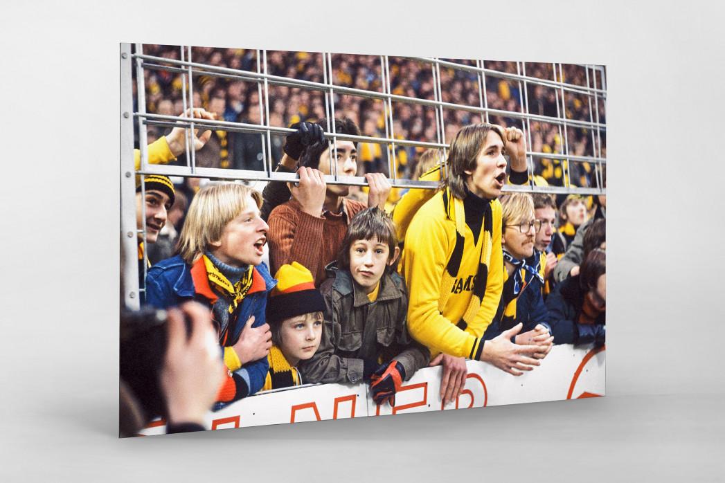 Junge BVB-Fans als auf Alu-Dibond kaschierter Fotoabzug