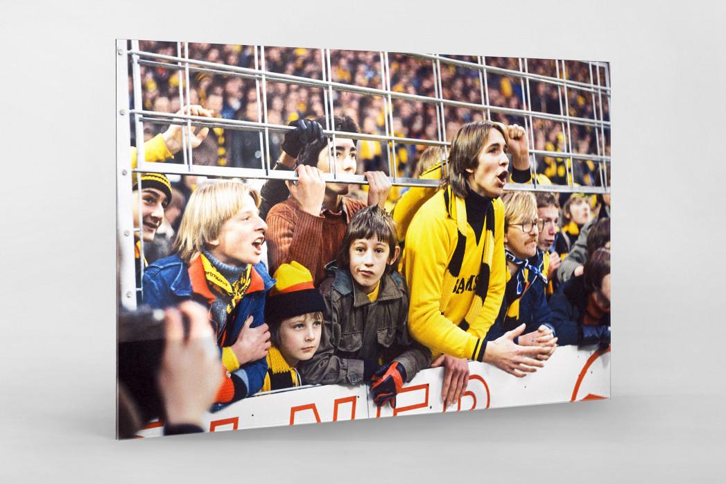Junge BVB-Fans als Direktdruck auf Alu-Dibond hinter Acrylglas