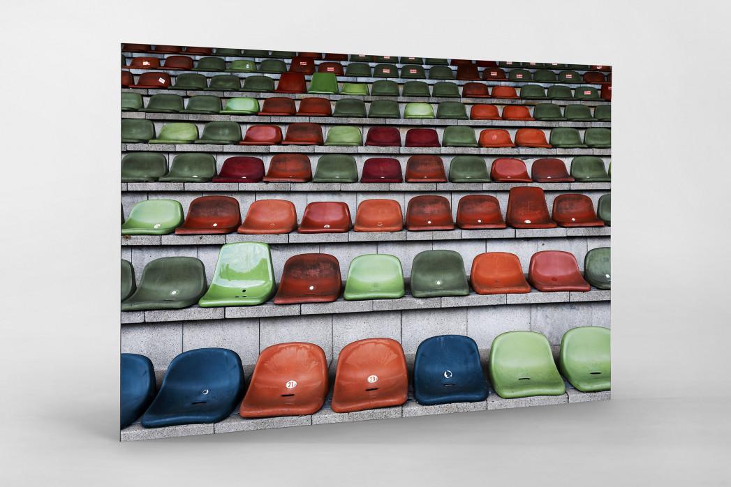 Schalensitze im Niederrheinstadion als auf Alu-Dibond kaschierter Fotoabzug