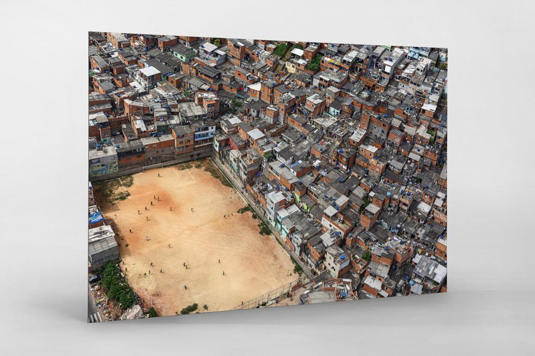 Fußballplatz in São Paulo als auf Alu-Dibond kaschierter Fotoabzug