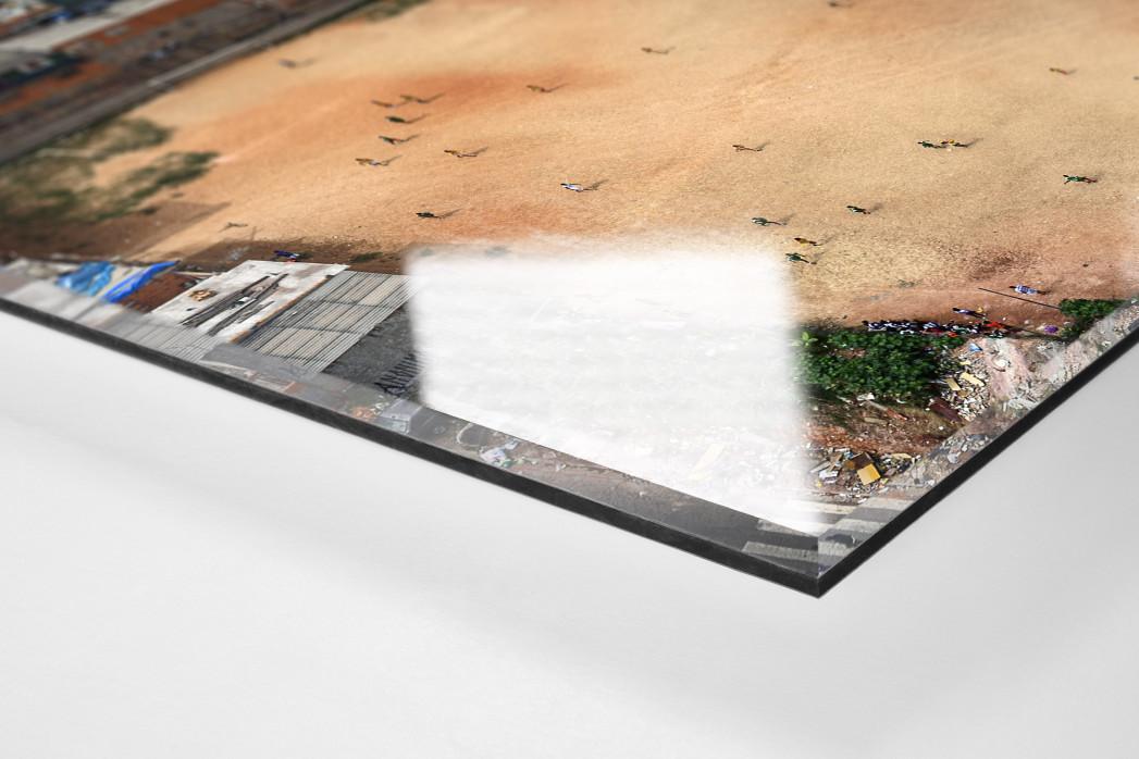 Fußballplatz in São Paulo als Direktdruck auf Alu-Dibond hinter Acrylglas (Detail)
