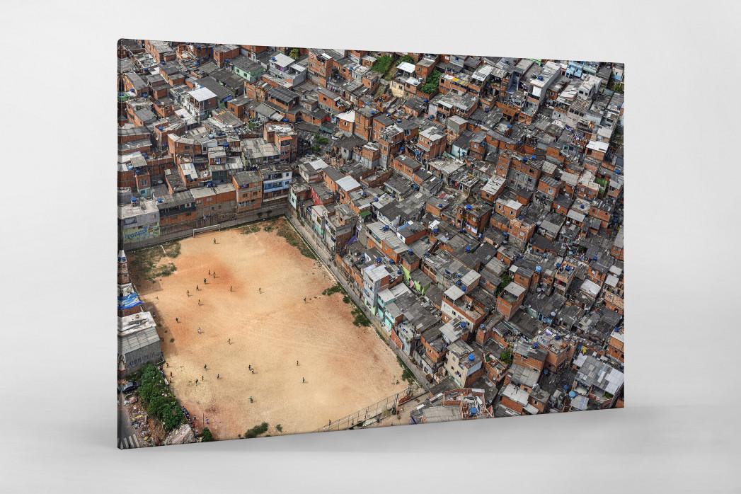 Fußballplatz in São Paulo als Leinwand auf Keilrahmen gezogen