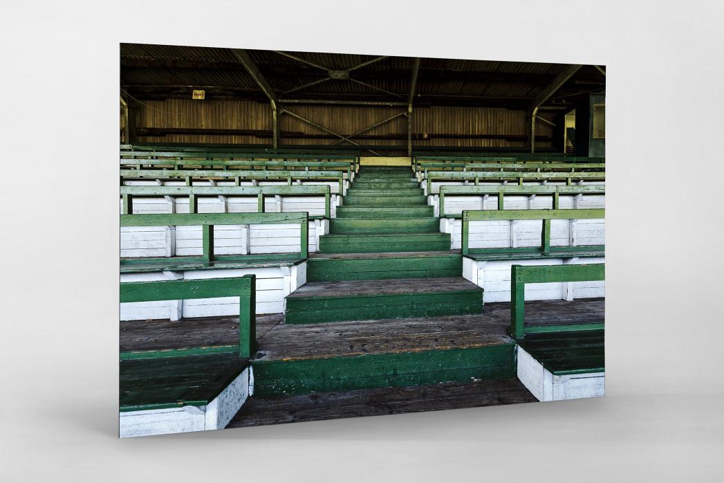 Tribüne Rudolf-Kalweit-Stadion (Farbe) als auf Alu-Dibond kaschierter Fotoabzug