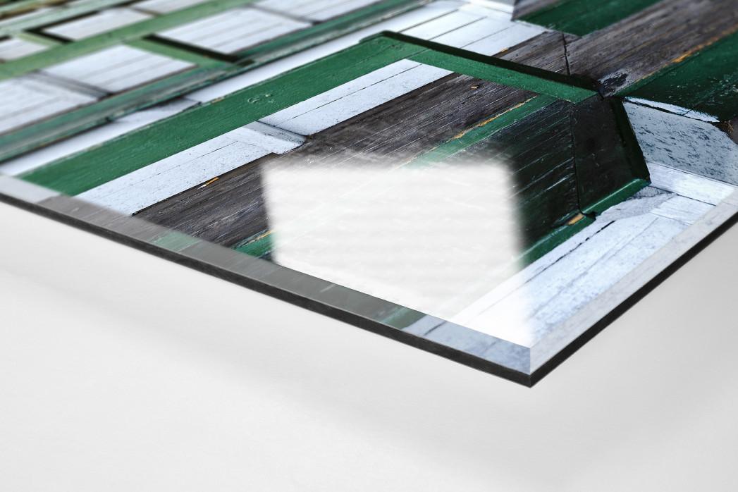 Tribüne Rudolf-Kalweit-Stadion (Farbe) als Direktdruck auf Alu-Dibond hinter Acrylglas (Detail)