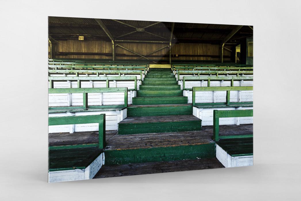 Tribüne Rudolf-Kalweit-Stadion (Farbe) als Direktdruck auf Alu-Dibond hinter Acrylglas