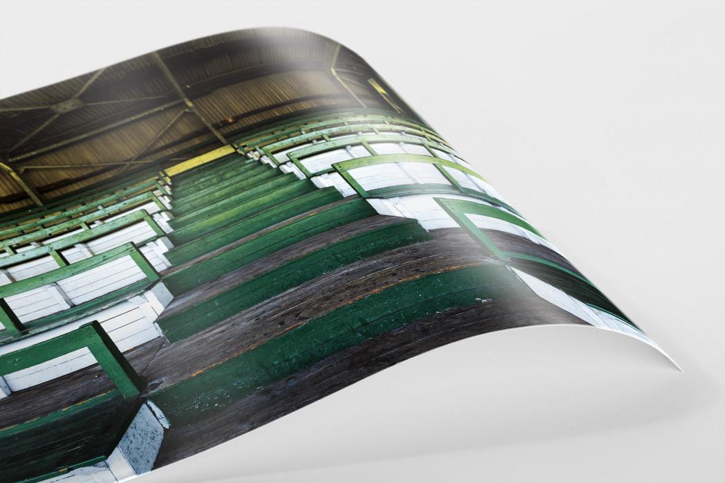 Tribüne Rudolf-Kalweit-Stadion (Farbe) als FineArt-Print