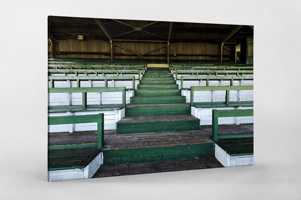 Tribüne Rudolf-Kalweit-Stadion (Farbe) als Leinwand auf Keilrahmen gezogen