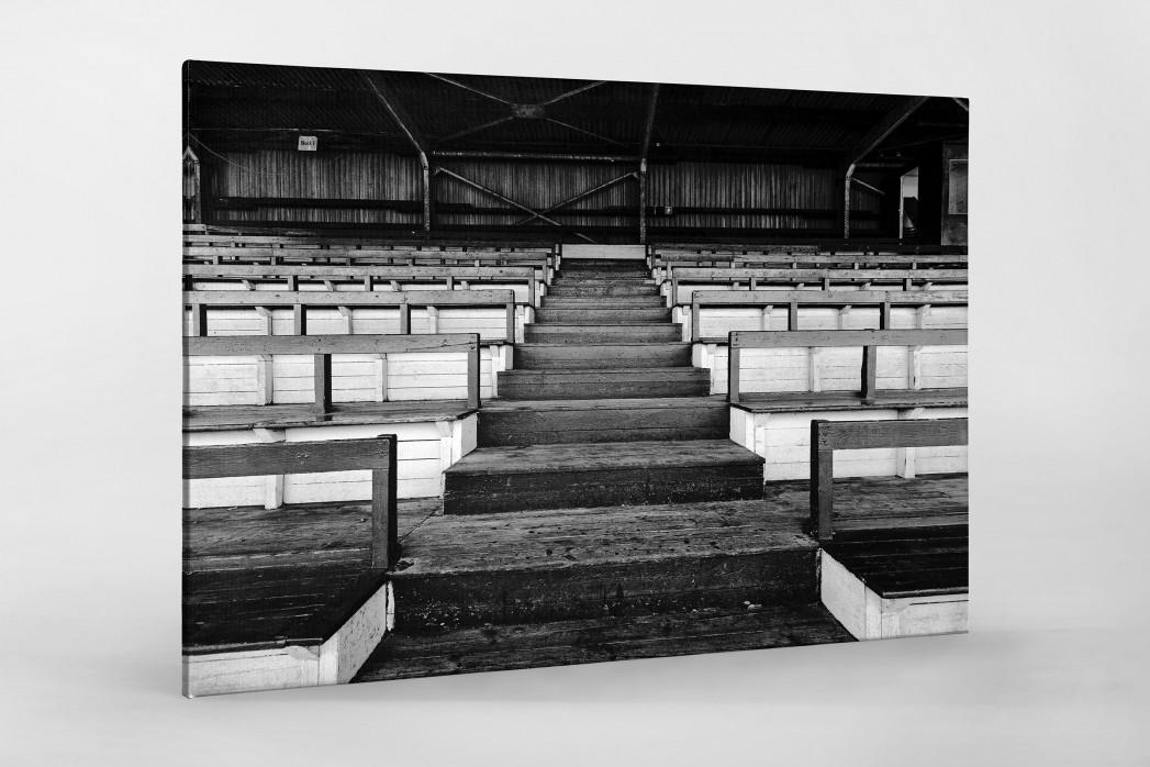 Tribüne Rudolf-Kalweit-Stadion (Schwarzweiß) als Leinwand auf Keilrahmen gezogen