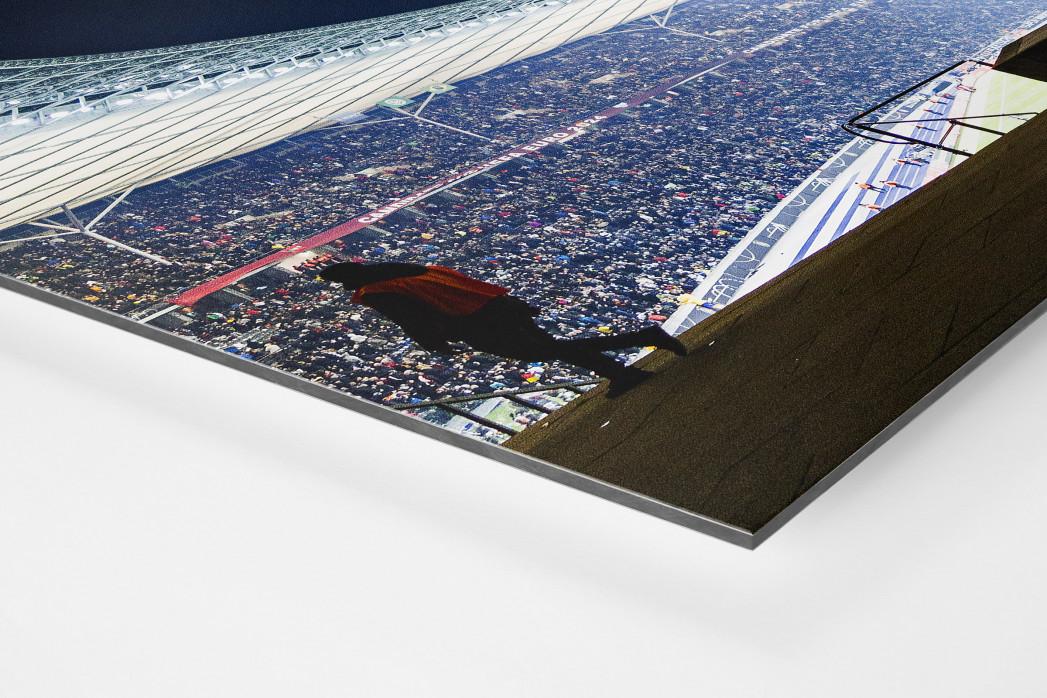 Licht an im Berliner Olympiastadion als auf Alu-Dibond kaschierter Fotoabzug (Detail)