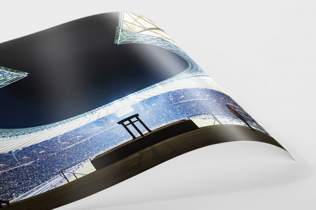Licht an im Berliner Olympiastadion als FineArt-Print