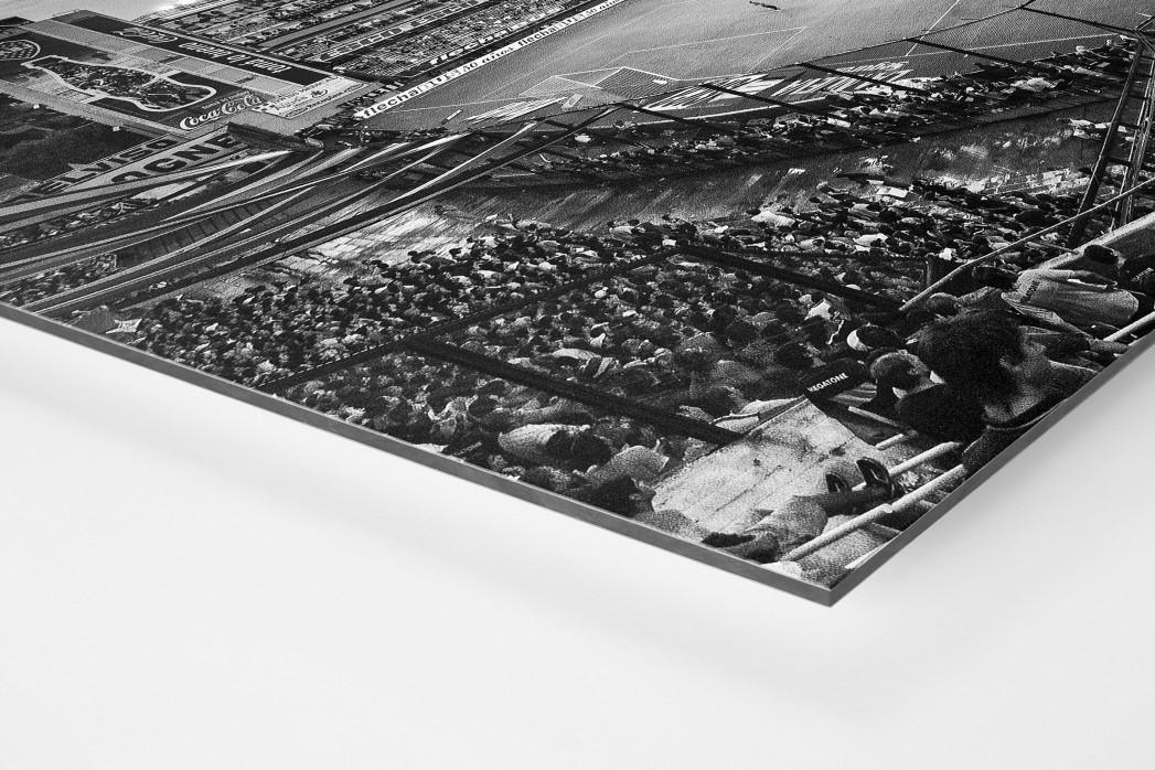 La Bombonera (schwarz/weiß) als auf Alu-Dibond kaschierter Fotoabzug (Detail)