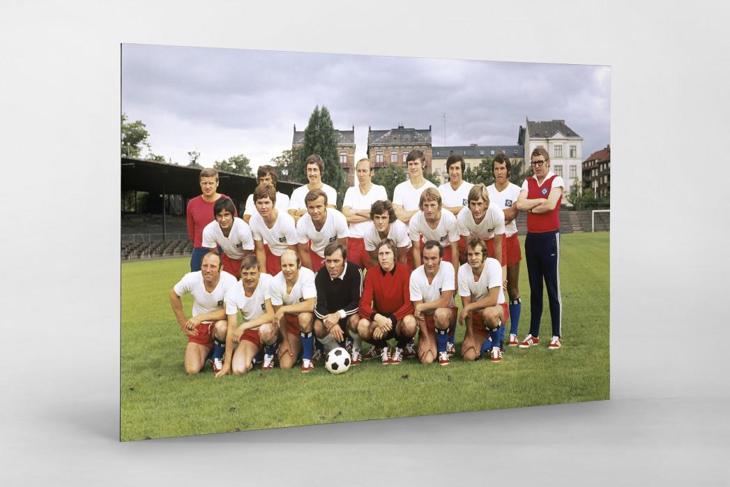HSV 1971/72 als auf Alu-Dibond kaschierter Fotoabzug