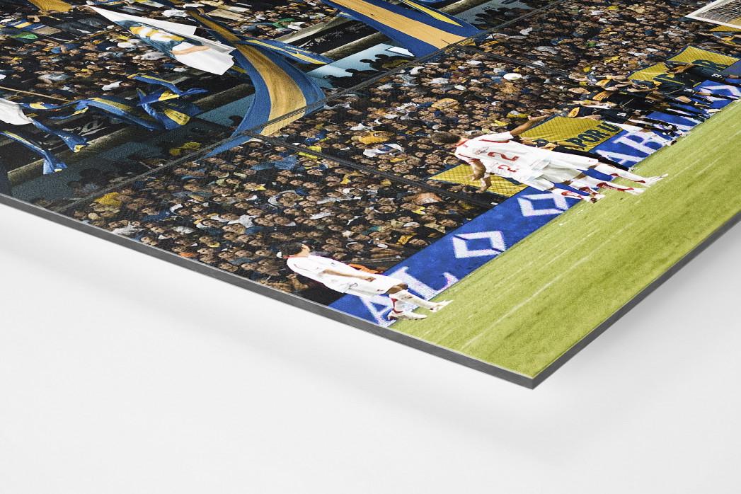 Boca Juniors Fankurve als auf Alu-Dibond kaschierter Fotoabzug (Detail)