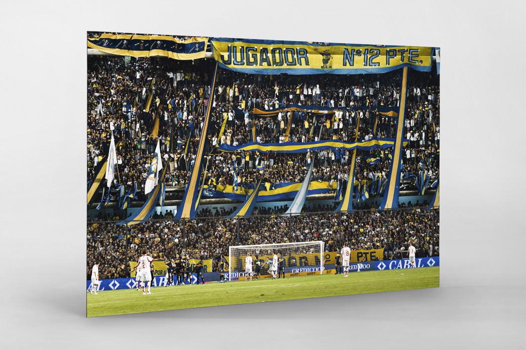 Boca Juniors Fankurve als auf Alu-Dibond kaschierter Fotoabzug