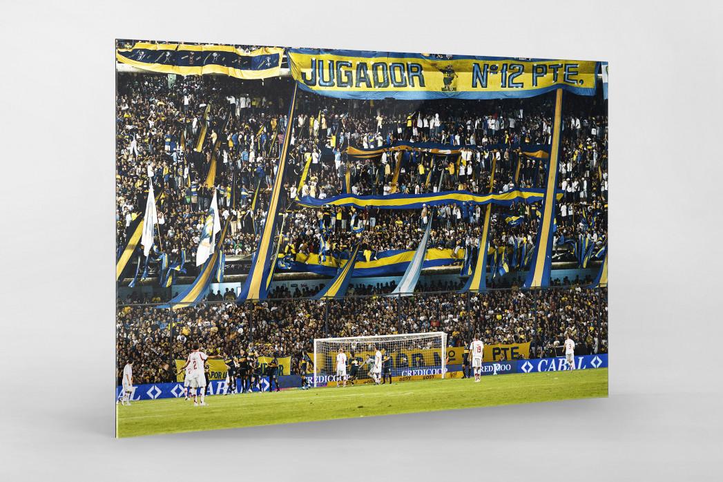 Boca Juniors Fankurve als Direktdruck auf Alu-Dibond hinter Acrylglas