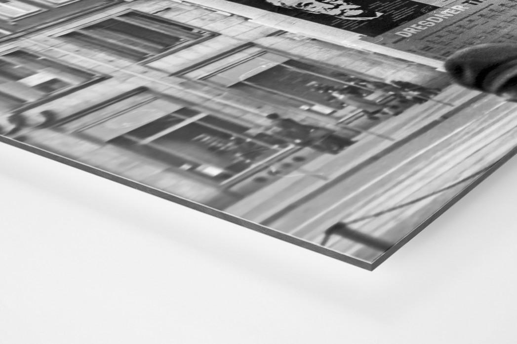 Litfaßsäule in Dresden als auf Alu-Dibond kaschierter Fotoabzug (Detail)