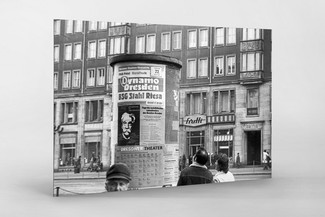 Litfaßsäule in Dresden als auf Alu-Dibond kaschierter Fotoabzug
