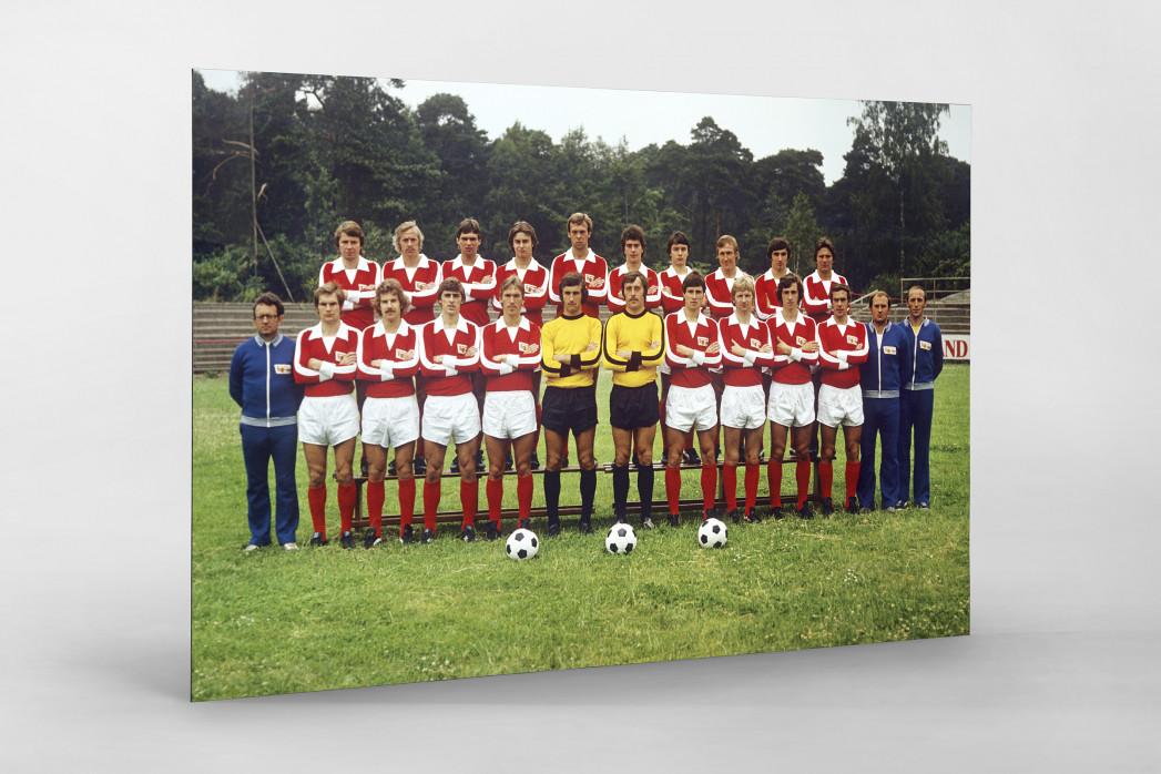 Union 1977/78 als auf Alu-Dibond kaschierter Fotoabzug