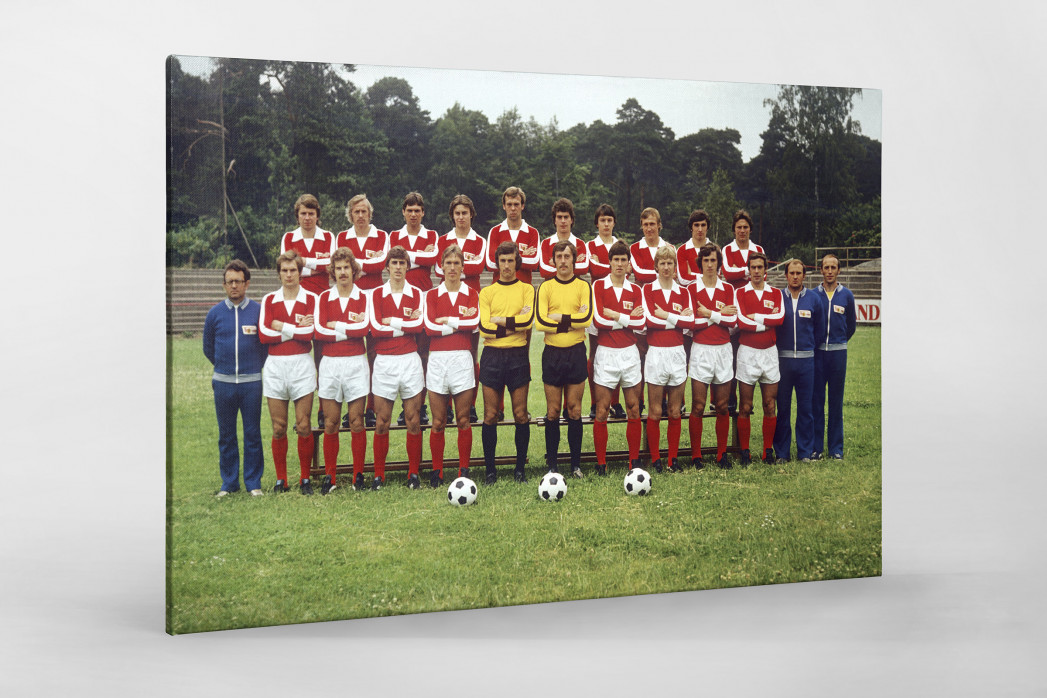 Union 1977/78 als Leinwand auf Keilrahmen gezogen