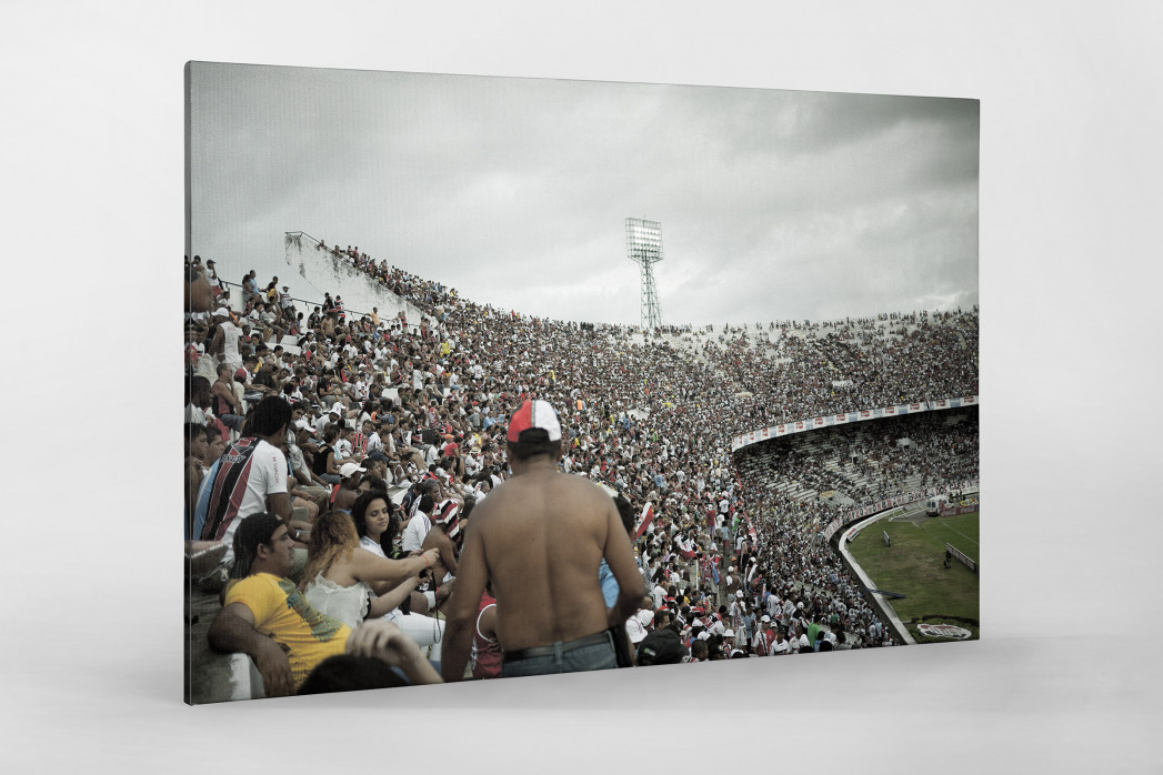 Im Estádio do Arruda als Leinwand auf Keilrahmen gezogen