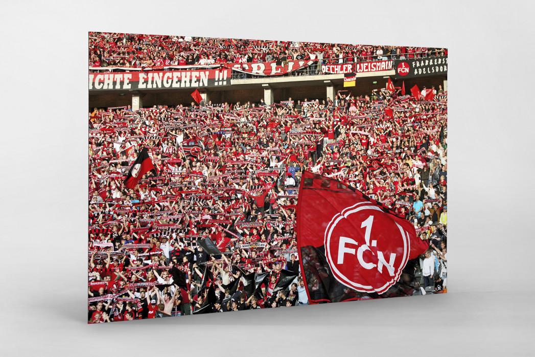 Club Fans in Berlin als auf Alu-Dibond kaschierter Fotoabzug