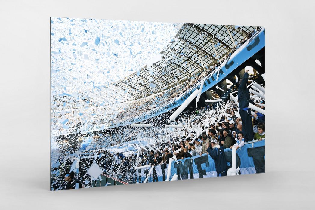 Racing Club Fankurve  als Direktdruck auf Alu-Dibond hinter Acrylglas