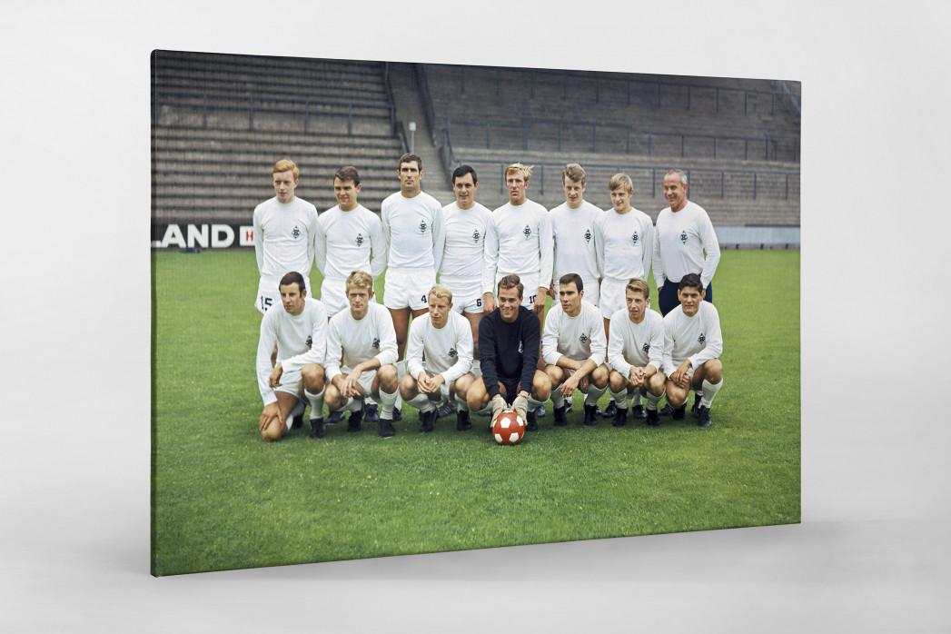 Mönchengladbach 1968/69 (2) als Leinwand auf Keilrahmen gezogen
