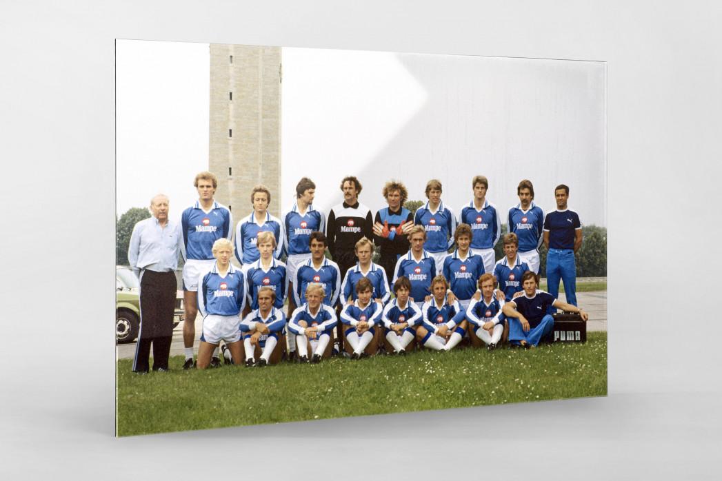 Hertha 1978/79 als Direktdruck auf Alu-Dibond hinter Acrylglas