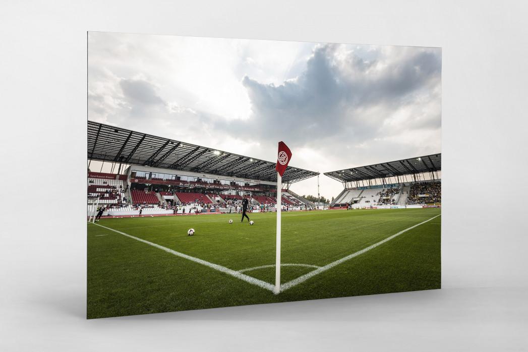 Eckfahne Stadion Essen als auf Alu-Dibond kaschierter Fotoabzug