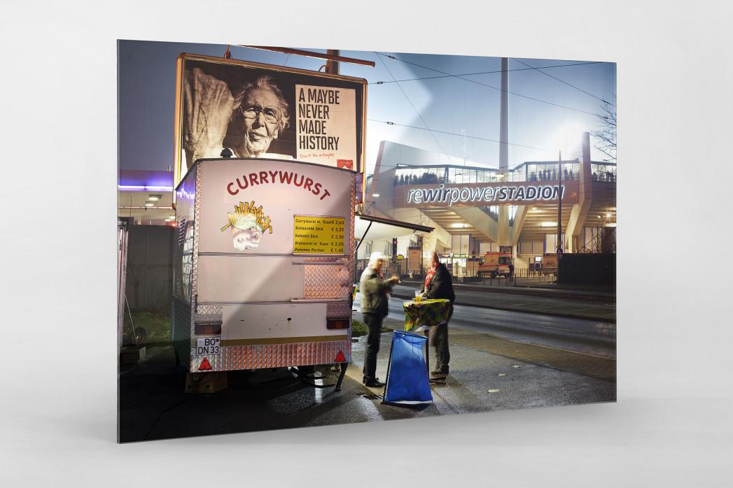 Currywurst in Bochum als Direktdruck auf Alu-Dibond hinter Acrylglas