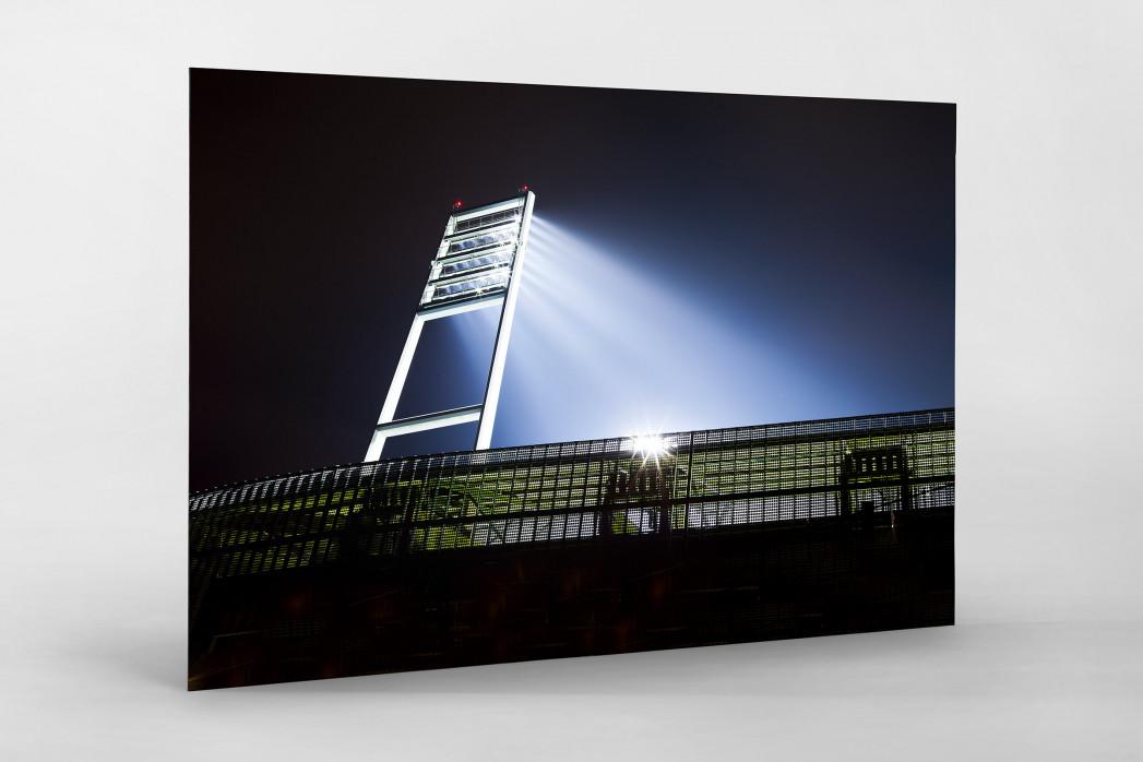 Flutlichtmast Weserstadion als auf Alu-Dibond kaschierter Fotoabzug