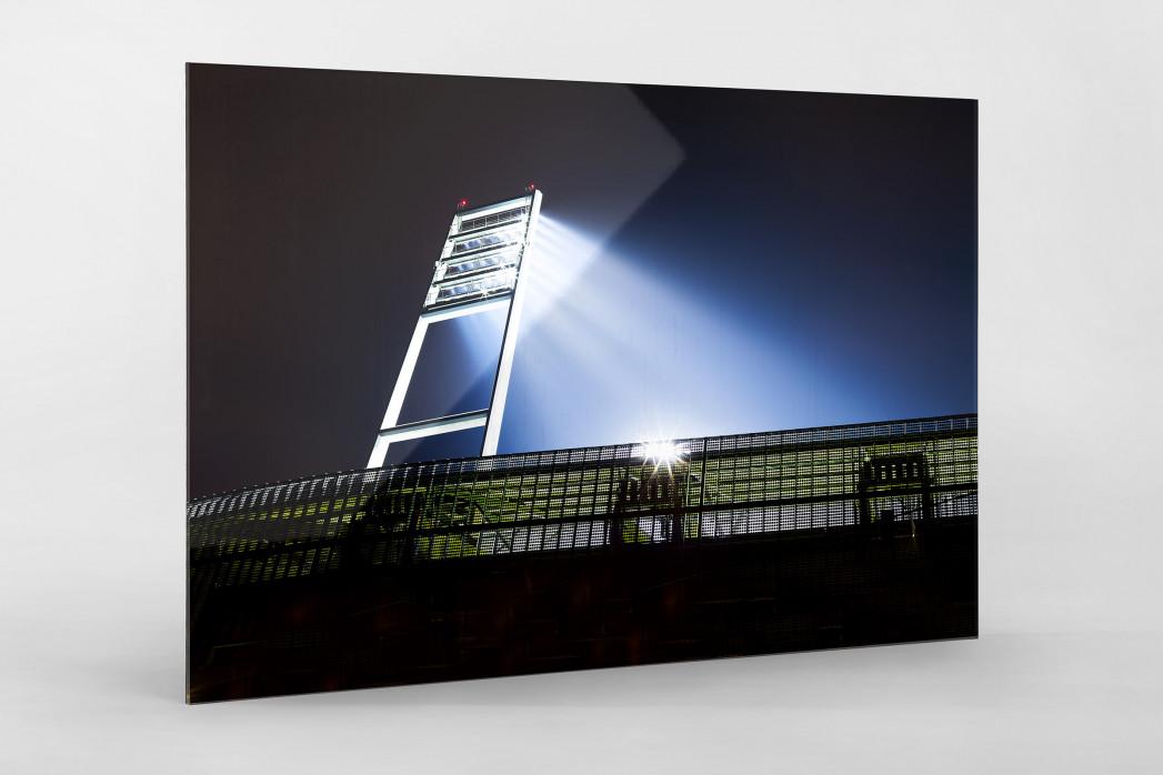 Flutlichtmast Weserstadion als Direktdruck auf Alu-Dibond hinter Acrylglas