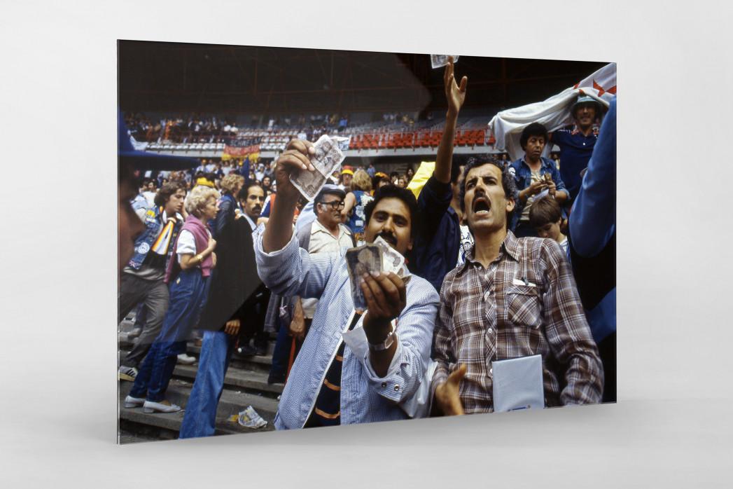 Algerische Fans in Gijon als Direktdruck auf Alu-Dibond hinter Acrylglas