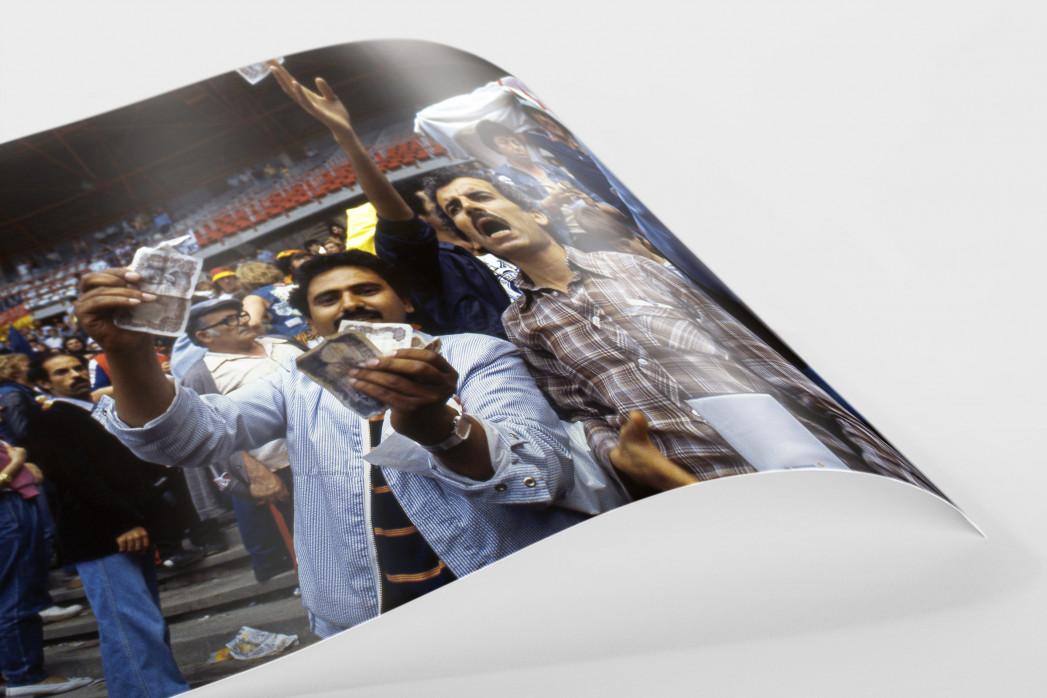 Algerische Fans in Gijon als FineArt-Print