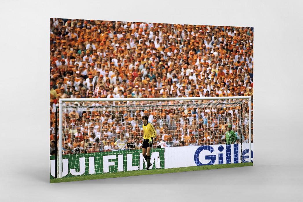 Bonner vor holländischen Fans als auf Alu-Dibond kaschierter Fotoabzug