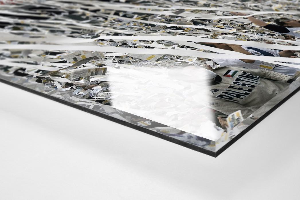 Vélez-Fankurve als Direktdruck auf Alu-Dibond hinter Acrylglas (Detail)