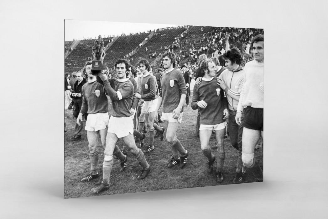 Jena FDGB-Pokalsieger 1974 als auf Alu-Dibond kaschierter Fotoabzug