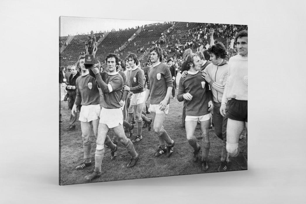 Jena FDGB-Pokalsieger 1974 als Leinwand auf Keilrahmen gezogen