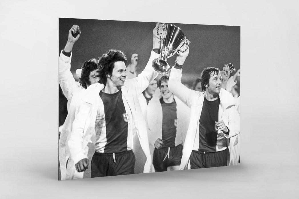 Magdeburger Europapokalsieger als auf Alu-Dibond kaschierter Fotoabzug