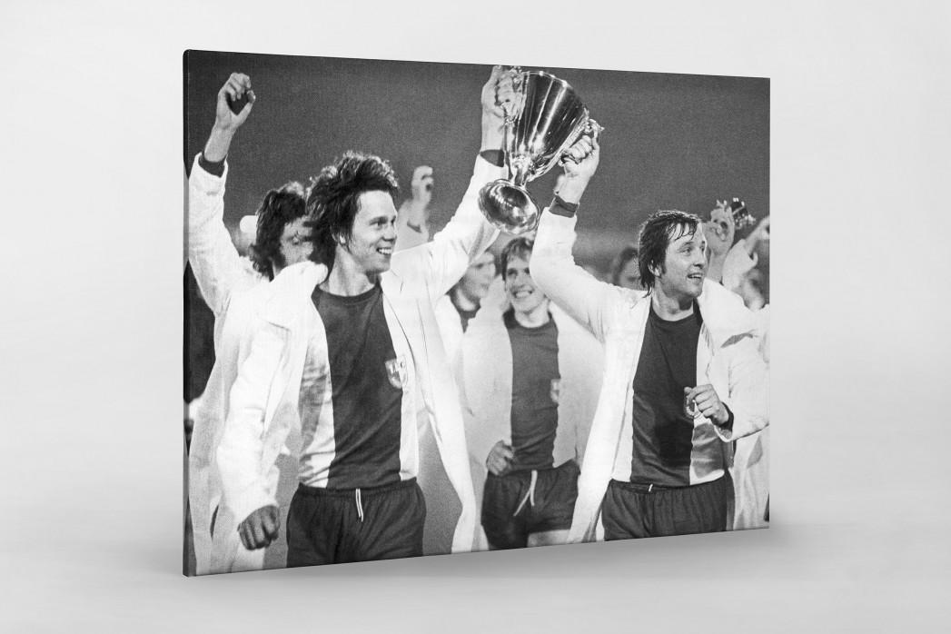 Magdeburger Europapokalsieger als Leinwand auf Keilrahmen gezogen