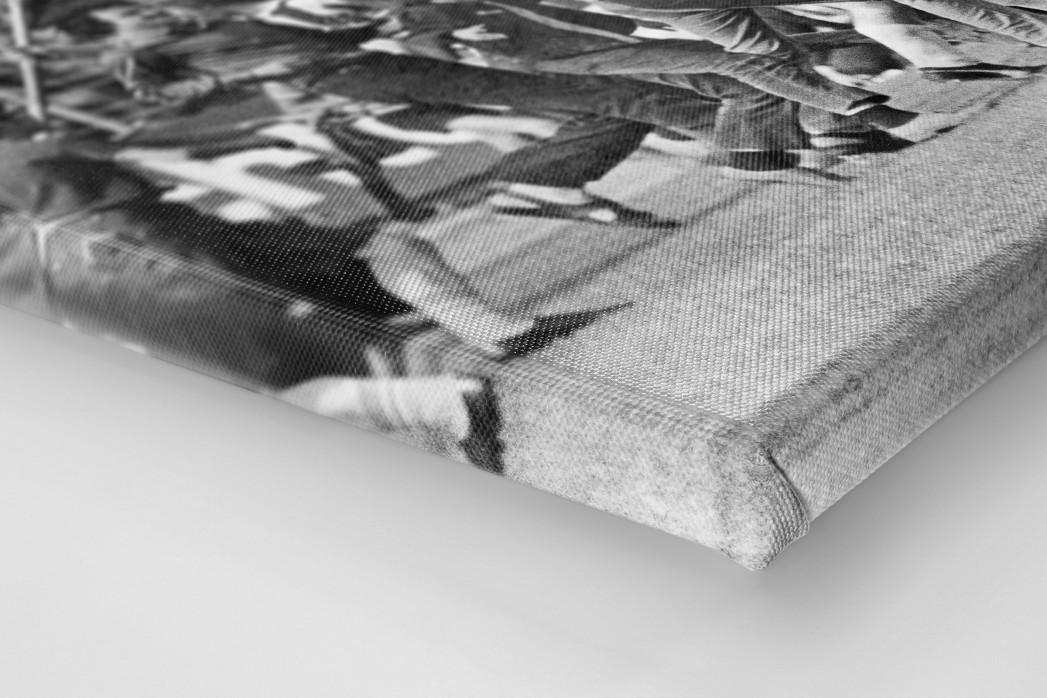 MSV Fahnen als Leinwand auf Keilrahmen gezogen (Detail)