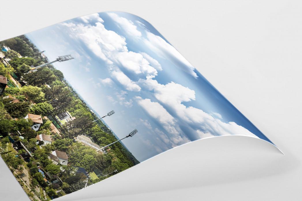 Darmstadt - Stadt und Stadion (hoch) als FineArt-Print