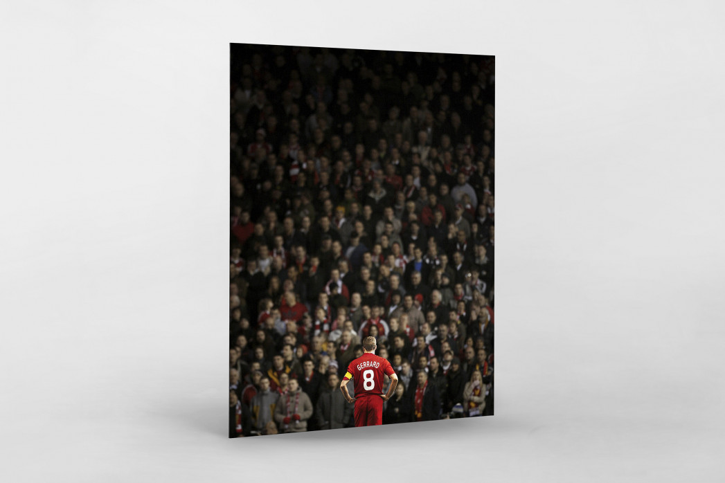 Gerrard vor den Fans (Covermotiv 11FREUNDE #159) als auf Alu-Dibond kaschierter Fotoabzug