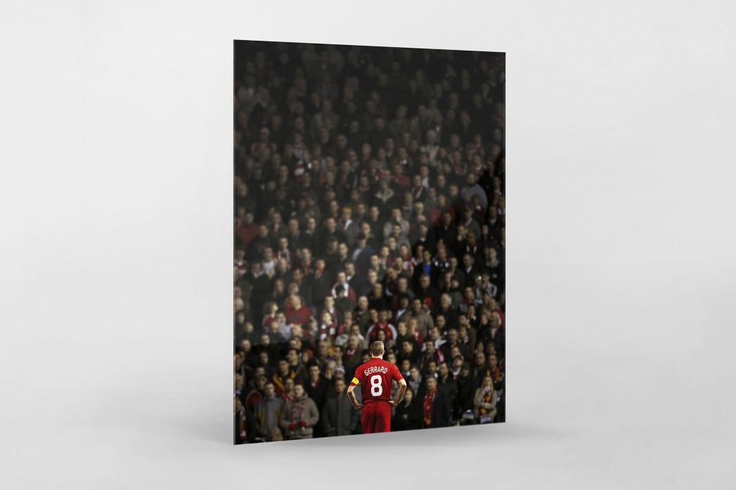 Gerrard vor den Fans (Covermotiv 11FREUNDE #159) als Direktdruck auf Alu-Dibond hinter Acrylglas